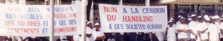 Manifestation contre la cession du handling