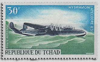 Timbre Tchad Latécoère 631