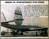 Premier vol intercontinental octobre/novembre 1961