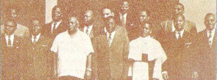 Les signataires du traité de Yaoundé
