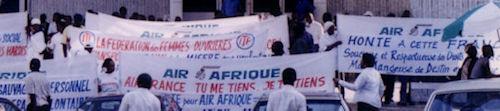 Manifestation devant le siège Air France
