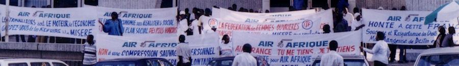 Manifestation ISTAA devant l'agence AF