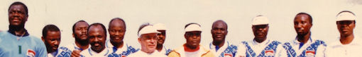 L'équipe foot Air Afrique au début des années 90