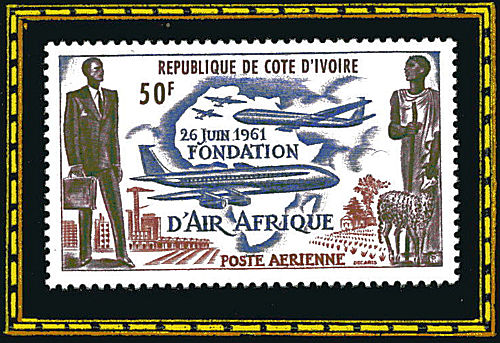 République de Côte d'Ivoire - 26 juin 1961, fondation d'Air Afrique