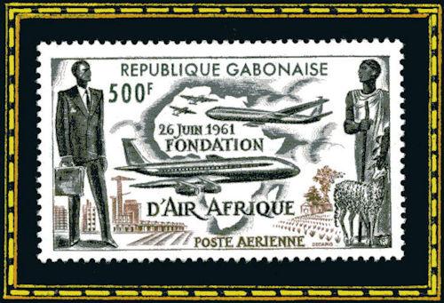 République Gabonaise - 26 juin 1961, fondation d'Air Afrique