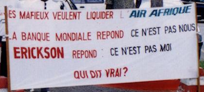 Manifestation contre la Banque Mondiale